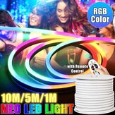 220V LED Strip 8*16mm RGB Neon Flex Rope Light 1/5/10M Waterproof LED Tape 5050 LED Neon Flex Tube IP65 String Lamp Multi Color for Home DIY Christmas Decor