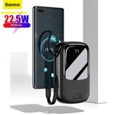 Baseus 22.5W 20000mAh Power Bank External Battery Power Supply With 20W USB-C PD QC4.0+22.5W QC3.0+22.5W Type-C Cable Output  Support PPS AFC FCP SCP VOOC Dash Warp Fast Charging For iPhone 12 Mini 12 Pro Max For Samsung Galaxy Note 20 OnePlus 8T MacBook