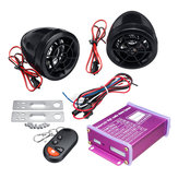 12V Anti-theft Motorcycle Alarm System MP3 FM SD USB Zdalny rozruch silnika + 2 rogi