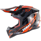 SOMAN ECEモトクロスフルフェイス保護安全成人用オートバイオフロードヘルメットフリップアップサンシールドカバーSM633