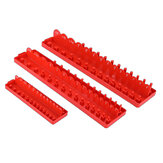 3 Stück 1/4 3/8 1/2 Zoll Socket Tray Set SAE Schienenregalhalter Storage Organizer Shelf Stand Socket Holder