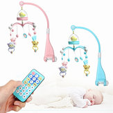 Baby Crib Mobile Bed Bell Hanging Holder Music Box Night Light Newborn Toys Gift