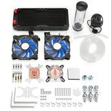 PC Water Cooling Kit 240mm Radiator Pump Reservoir CPU Block Tubi rigidi DIY