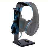 Auriculares de acrílico universal para juegos de auriculares Auricular Soporte Percha Pantalla Soporte