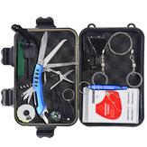 10 in 1 kit di attrezzi per attrezzature di emergenza SOS per esterni Pronto soccorso Scatola forniture di sopravvivenza