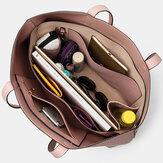 女性2ピースマルチポケット大容量リムーバブルキー多機能ハンドバッグトートバッグ