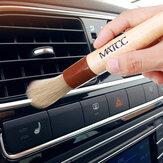 Detalhe Escova do carro MATCC 2PCS Limpeza Escova Premium Cerda com cabo de madeira