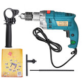 1980W 3800rpm Electric Impact Drill 360° Rotary Skid-Proof Handle With Depth Measuring Scale Spinal Cooling System Hand Tool