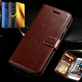 Bakeey for POCO X3 NFC Case Magnetic Flip with Multiple Card Slot Foldable Stand PU Leather Shockproof Full Cover Protective Case Non-original