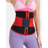 Women Body Shaper Zip Front Belly Control Waist Trainer With Sticky Belt