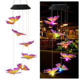 Color Changing LED Solar Light Outdoor Hummingbird Wind Chime Lamp Yard Garden Decor