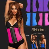 Bone Latex Rubber Waist Trainer Body Shaping Shaper Cincher Corset Underbust Slimming Belt