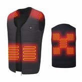 Veste chauffante unisexe 9 zones de chauffage Veste chauffante USB Warm Up Winter Body Racing Coat Thermal
