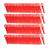 100 Pz Plastica Rossa Blades Per Erba Trimmer Strimmer Lawnmower