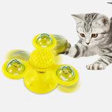 Dönen Üç Başlı Fırıldak Kedi Oyuncak Tırmalama Saç Pet Kedi Etkileşimli Oyuncak