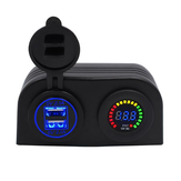 CS-489H1 4.2A Dual Usb Car Charger Color Screen Volt Meterr Bateria Detecção de tensão