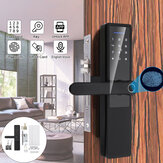 5V Aluminum Alloy Electronic Fingerprint Lock Smart Lock Door Lock Bedroom Anti-theft Door Lock Password Lock