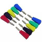 50/100個P3002赤+黒+緑+青+黄色4mmスタッカブルニッケルメッキスピーカーマルチメーターBanana Plugコネクタテストプローブバインディング
