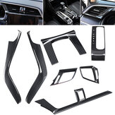 7Pcs Carbon Fiber Dashboard Look Gear Side Cover Trim for 2016-2017 10th Honda Civic