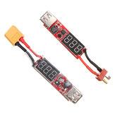 2S-6S Lipo Batterie à USB Adaptateur de conversion numérique Affichage numérique 5V 1A
