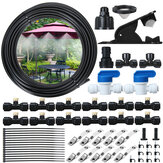 44PCS 15FT Misting Cooling System PE Spray Water Systemfor Garden Landscaping Greenhouse