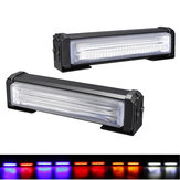 2 Pcs 40 W Grade Frontal COB LED Luz de Emergência Piscando Aviso Strobe Lamp 12-24 V