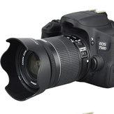 JJC EW-63C Lens Hood için Canon 100D / 200D / 750D / 760D Lens 18-55 STM Başlık 58mm