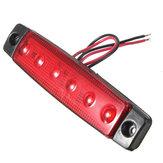12v 6 LED lâmpada de luz indicadora de presença lateral reboque ônibus caminhão