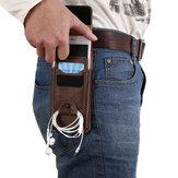 Sac de Taille Sac de Téléphone de Loisir Vintage Multifonctionel Sac à Bandoulière pour Homme