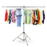 ステンレス鋼の洗濯物は調節可能な折るハンガーの携帯用乾燥の立場の棚に着せます