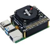 Wentylator chłodzący płytki rozwojowej Raspberry Pi 4B Odpowiedni do wentylatora RaspberryPi Turbo z oświetleniem otoczenia LED