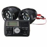 Guiador da motocicleta Sistema de alarme estéreo Amplificador de rádio MP3 Alto-falantes de 3 polegadas com função bluetooth