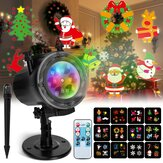 Christmas Projector Lights Elfeland Thanksgiving Projector Light with 12 Ocean Wave Patterns Christmas Projector with Remote & Timing for Indoor Outdoor Xmas New Year Party Landscape Decorations  EU Plug