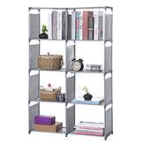 5 Ebenen Metall Cube Bücherregal Aufbewahrungsregal Displayständer DVD-CD-Halter Bücherregale Aufbewahrungsregale Regaleinheit für den Schlafsaal im Home Office
