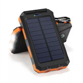 Bakeey 20000mAh Dual USB DIY Solar Power Bank Caso Kit com bússola leve LED