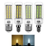 E14 E27 7 W 72 SMD 5730 Sıcak Beyaz Saf Beyaz LED Mısır Ampul Ev Dekorasyon için AC220V