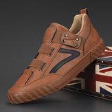 حذاء رياضي كاجوال جلد من الألياف الدقيقة للرجال مريح غير قابل للانزلاق مرن حزام