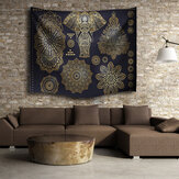 Indian Mandala Elephant strandlaken Tapestry muur Opknoping Throw Dorm sprei Mat Decor