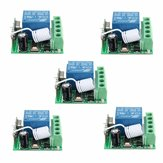 Receptor de interruptor de controle remoto rf sem fio 10A 5pcs dc12v 433MHz 1ch