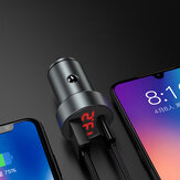 Bakeey 5A PD Type-C USB Car Charger LED Display Fast Charging For iPhone XS 11Pro Huawei P30 P40 Pro Xiaomi Mi10 Redmi Note 9S Oneplus 8Pro
