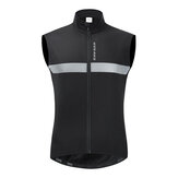 WOSAWE Winter Cycling Vest Fleece Warm Up Windproof Gilet Road MTB Bike Riding Skiing Vest Reflective Biyclcle Cycling Jacket