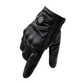 WUPP motorkerékpár teljes ujjal lovagló kesztyű érintőképernyős szélálló bőr terepverseny kültéri sport fekete