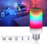E27 E14 E26 E12 B22 7W Efekt płomienia 2835SMD 3 tryby LED Rainbow Żarówka AC85-265V