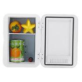6L Mini Buzdolabı Küçük Ev Yurdu Tek Kapı Araba Ev Çift kullanımlı Araba Buzdolabı