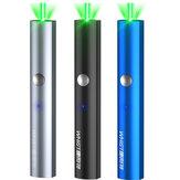 Whist A26 Laser Point Pen recarregável USB luz verde de alta potência com Star Caps Beam Light para exposição PPT discurso