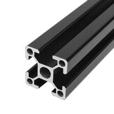 Machifit Black 100-1200mm 2020 T-slot Aluminum Extrusions Aluminum Profiles Frame for CNC Laser Engraving Machine
