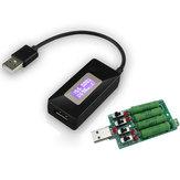 Tester USB Woltomierz DC Amperomierz Miernik napięcia Miernik prądu Monitor wydajności QC2.0 Szybka ładowarka Detektor + rezystor obciążenia rozładowania USB