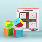 QiYi 4pcs Magic Cube Set 2x2 3x3x3 4x4x4 5x5x5 Speed Cube for Brain Training Children's Education Competition Toys