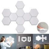 10PCS DIY Quantum LED Hexagonal Lamps Touch Magnetic Sensitive Wall Night Light AC110-240V