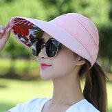 Chapeau de visière de protection UV pliable pour femmes en plein air